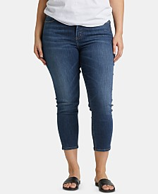 Silver Jeans Co. Plus Size Avery Cropped Skinny Jeans
