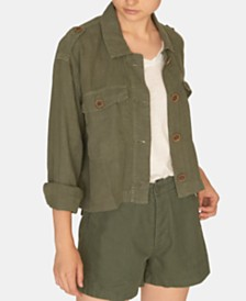 Sanctuary With Honour Linen Military Jacket