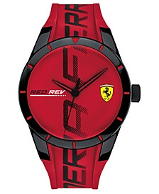 Men's RedRev Red Silicone Strap Watch 44mm