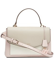 DKNY Lex Leather Top Handle Satchel, Created for Macy's