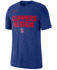 Nike Men's Los Angeles Clippers Team Essential Local Slogan Slub T-Shirt
