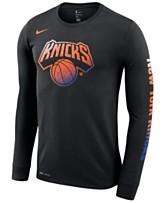 80b40b3ba54d Nike Men s New York Knicks Dry Mezzo Logo Long Sleeve T-Shirt