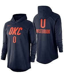 Nike Men's Russell Westbrook Oklahoma City Thunder Hooded Player Name and Number Long Sleeve T-Shirt