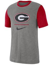 Nike Men's Georgia Bulldogs Dri-FIT Slub Raglan T-Shirt