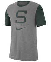 ae7b7ad4ba3871 Nike Men s Michigan State Spartans Dri-FIT Slub Raglan T-Shirt