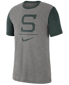Nike Men's Michigan State Spartans Dri-FIT Slub Raglan T-Shirt