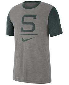 Nike Men's Michigan State Spartans Dri-FIT Slub Raglan T-Shirt