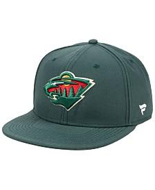Authentic NHL Headwear Minnesota Wild Basic Fan Snapback Cap
