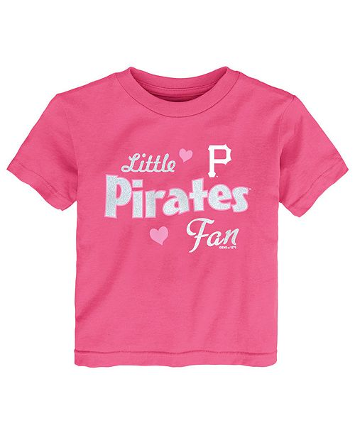 Outerstuff Toddlers Pittsburgh Pirates Girly Fan T-Shirt