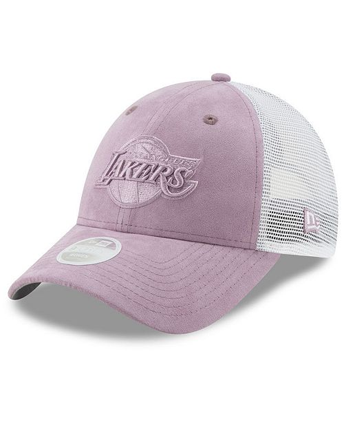New Era Women's Los Angeles Lakers Suede Trucker 9FORTY Snapback Cap