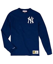 Mitchell & Ness Men's New York Yankees Slub Long Sleeve T-Shirt