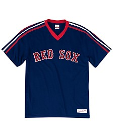 Mitchell & Ness Men's Big & Tall Boston Red Sox Coop Overtime Vintage Top