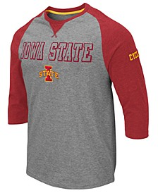 Men's Iowa State Cyclones Team Patch Three-Quarter Sleeve Raglan T-Shirt