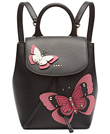 DKNY Lex Leather Butterfly Garden Backpack, Created for Macy's
