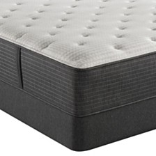 "Beautyrest Silver BRS900-C-TSS 14.5"" Medium Firm Mattress Set - Queen, Created For Macy's"