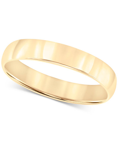 14k Gold 4mm Wedding Band