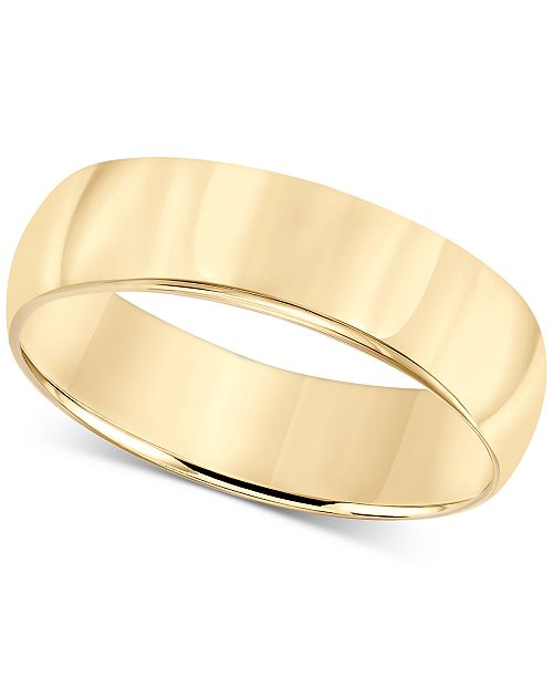 Macy's 14k Gold 6mm Wedding Band