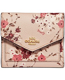 COACH Floral Print Small Wallet