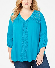 Plus Size Crochet-Trim Top