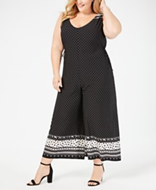 John Paul Richard Plus Size Cropped Jumpsuit