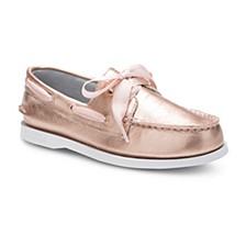 Little & Big Girls Authentic Original Satin Lace Boat Shoe