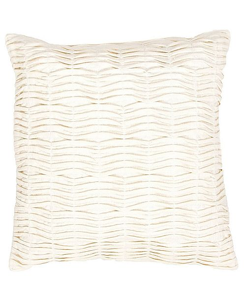 "Jaipur Living Florenza White Solid Poly Throw Pillow 20"""