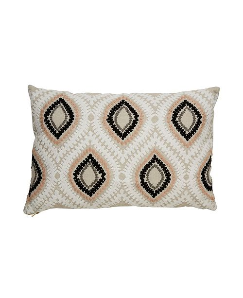 "Jaipur Living Nikki Chu By Ambra Beige/Pink Ikat Throw Pillow 16"" x 24"" Collection"