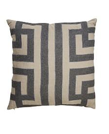 "Nikki Chu By Jaipur Living Ordella Gray/Silver Geometric Poly Throw Pillow 22"""