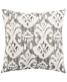 "Jaipur Living Rivoli Fresco Gray/White Ikat Indoor/ Outdoor Throw Pillow 20"""