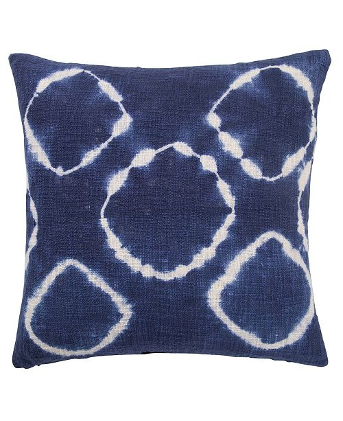 """Jaipur Living Azora Indigo/ Blue Overdyed Poly Throw Pillow 20"""""""