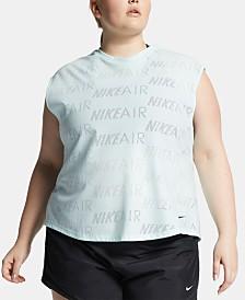 Nike Plus Size Air Logo-Print T-Shirt