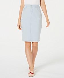 Petite Striped Denim Skirt, Created for Macy's