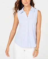 106b630cc55e3 Charter Club Petite Cotton Striped Pique Shirt