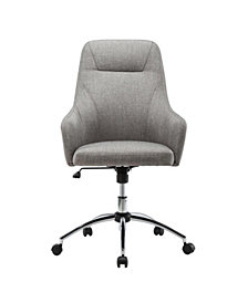 Techni Mobili Height Adjustable Rolling Office Desk Chair