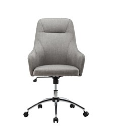 Techni Mobili Height Adjustable Rolling Office Desk Chair, Quick Ship