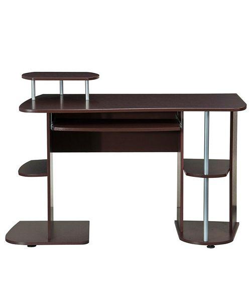 RTA Products Techni Mobili Complete Computer Workstation Desk