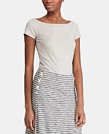 Lauren Ralph Lauren Off-The-Shoulder T-Shirt