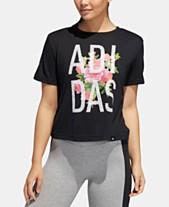 261b8b10e36d8e adidas Floral Essentials Logo T-Shirt
