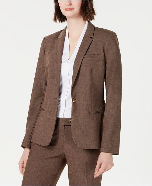 db4d039af3153 Calvin Klein One-Button Blazer & Reviews - Jackets & Blazers - Women ...