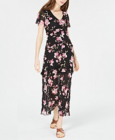 Juniors' Flutter-Sleeve Maxi Dress, Created for Macy's