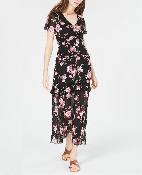 American Rag Juniors' Flutter-Sleeve Maxi Dress, Created for Macy's