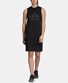 Sports ID Mesh-Overlay Sleeveless Dress