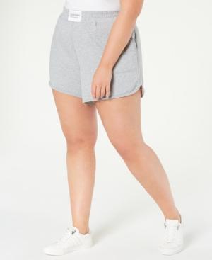 Calvin Klein Shorts PERFORMANCE PLUS SIZE SMOCKED-WAISTBAND SHORTS