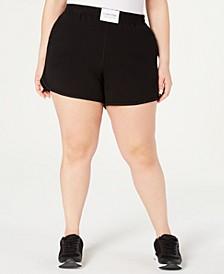 Plus Size Smocked-Waistband Shorts