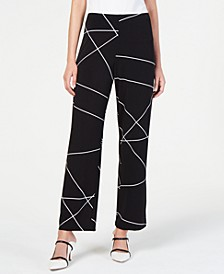 Petite Printed Wide-Leg Pants, Created for Macy's