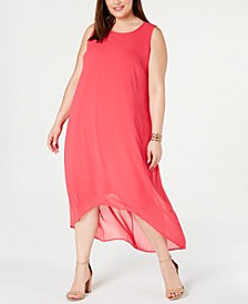 Plus Size High-Low Maxi Dress, Created for Macy's