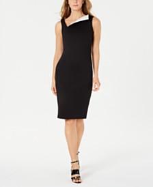 Calvin Klein Fold-Over Sheath Dress