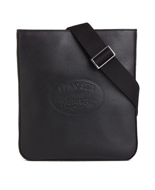 ed225610f Lacoste Men's Flat Leather Crossbody Bag; Lacoste Men's Flat Leather  Crossbody ...