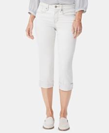 NYDJ Marilyn Tummy-Control Cropped Straight-Leg Jeans