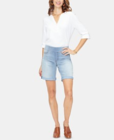 NYDJ Tummy-Control Denim Bermuda Shorts
